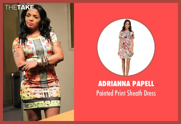 Adrianna Papell dress from Rosewood seen with Scrumptious (Rasheeda)