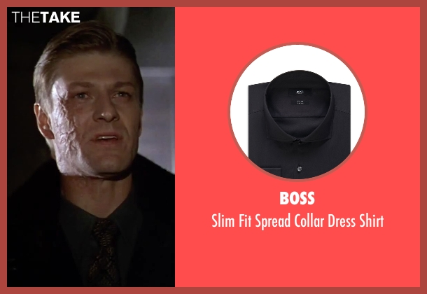 Boss black shirt from GoldenEye seen with Sean Bean (Alec Trevelyan)