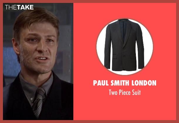 Paul Smith London black suit from GoldenEye seen with Sean Bean (Alec Trevelyan)