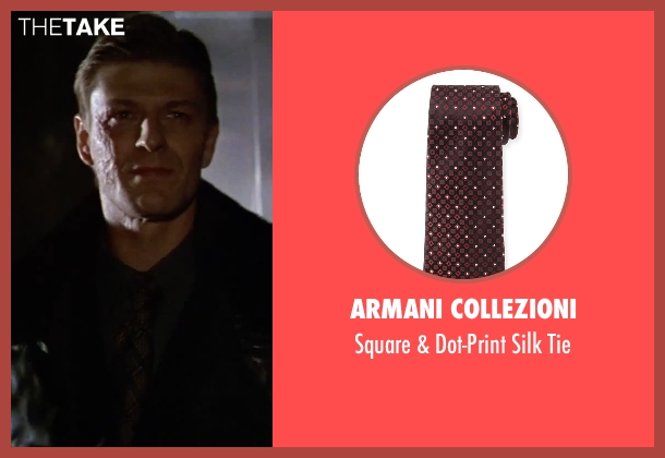 Armani Collezioni	 brown tie from GoldenEye seen with Sean Bean (Alec Trevelyan)