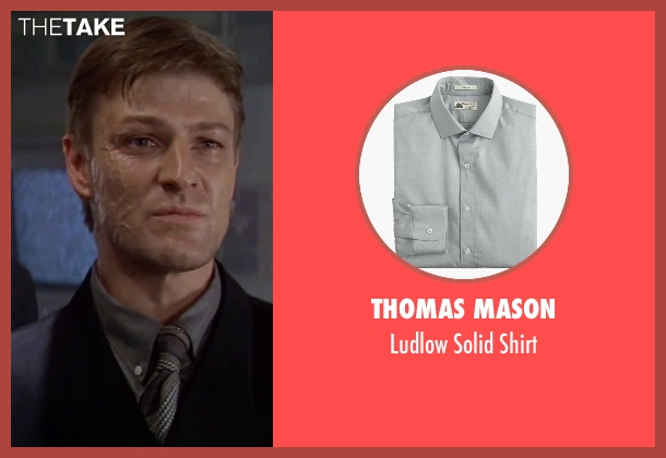 Thomas Mason gray shirt from GoldenEye seen with Sean Bean (Alec Trevelyan)
