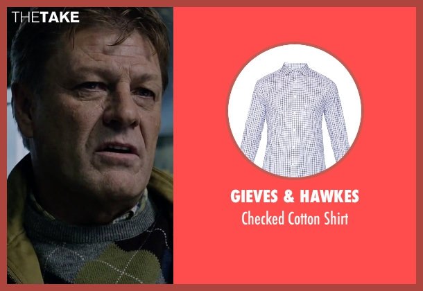 Gieves & Hawkes white shirt from The Martian seen with Sean Bean (Mitch Henderson)