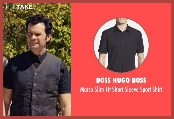 Boss Hugo Boss black shirt from The Best of Me seen with Sean Bridgers (Tommy Cole)