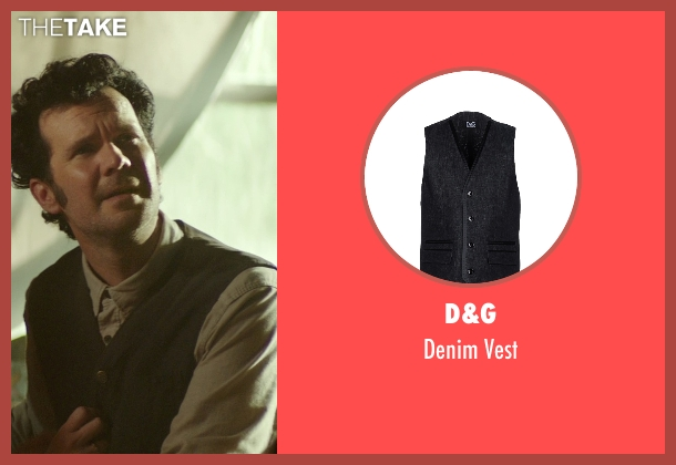 D&G black vest from The Best of Me seen with Sean Bridgers (Tommy Cole)