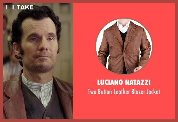Luciano Natazzi brown jacket from The Best of Me seen with Sean Bridgers (Tommy Cole)