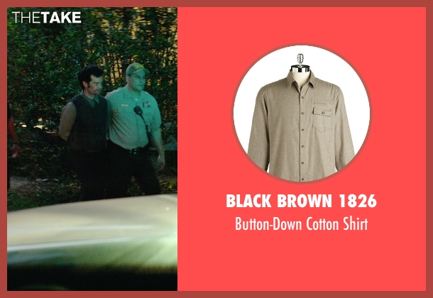 Black Brown 1826 brown shirt from The Best of Me seen with Sean Bridgers (Tommy Cole)