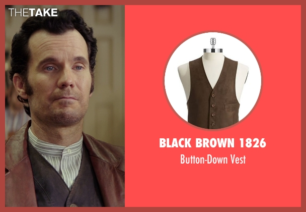 Black Brown 1826 brown vest from The Best of Me seen with Sean Bridgers (Tommy Cole)