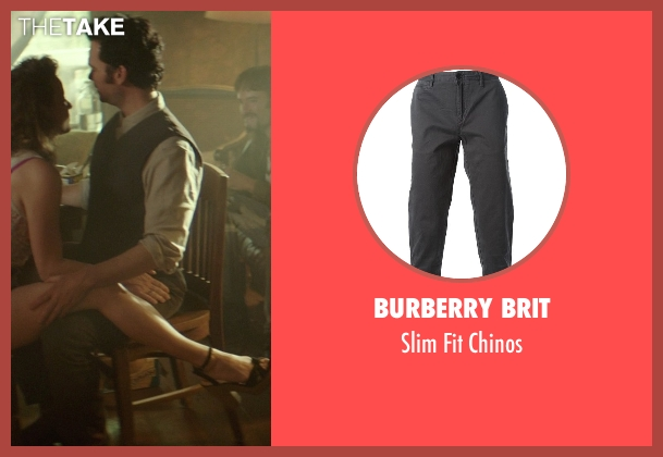 Burberry Brit gray chinos from The Best of Me seen with Sean Bridgers (Tommy Cole)