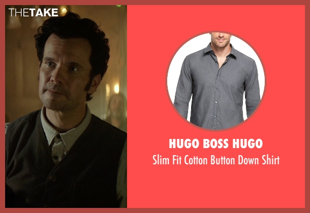 Hugo Boss Hugo gray shirt from The Best of Me seen with Sean Bridgers (Tommy Cole)
