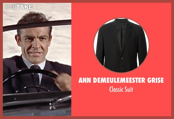 Ann Demeulemeester Grise black suit from Dr. No seen with Sean Connery (James Bond)