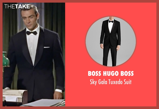 Boss Hugo Boss black suit from Dr. No seen with Sean Connery (James Bond)