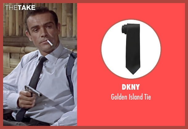 DKNY black tie from Dr. No seen with Sean Connery (James Bond)