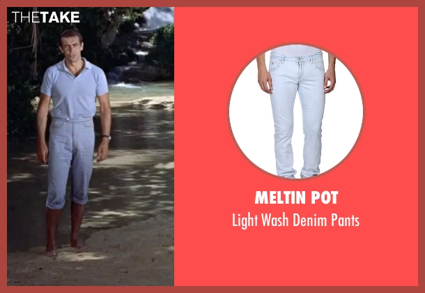 Meltin Pot blue pants from Dr. No seen with Sean Connery (James Bond)