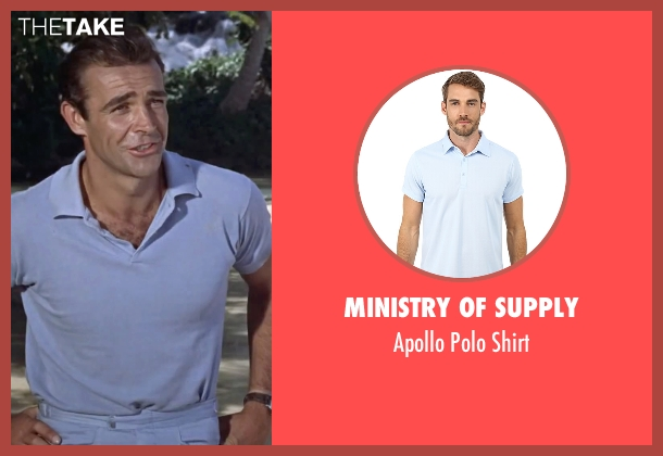Ministry of Supply blue shirt from Dr. No seen with Sean Connery (James Bond)