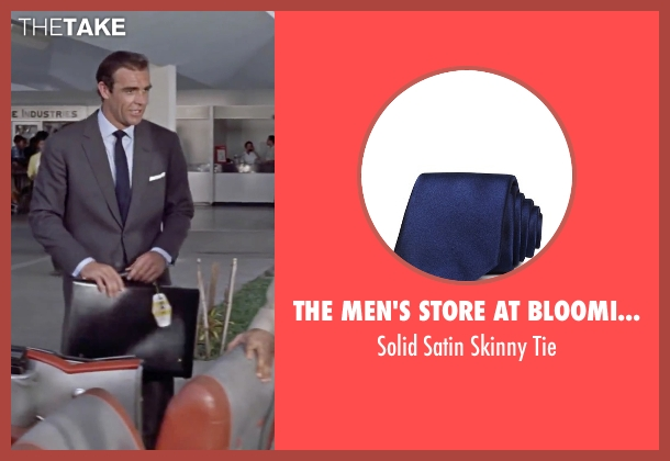 The Men's Store at Bloomingdale's blue tie from Dr. No seen with Sean Connery (James Bond)