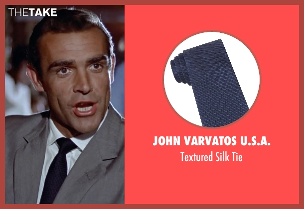 John Varvatos U.S.A. blue tie from Dr. No seen with Sean Connery (James Bond)