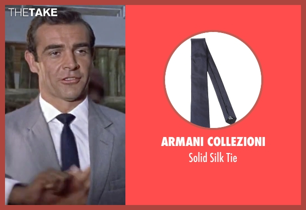 Armani Collezioni blue tie from Dr. No seen with Sean Connery (James Bond)
