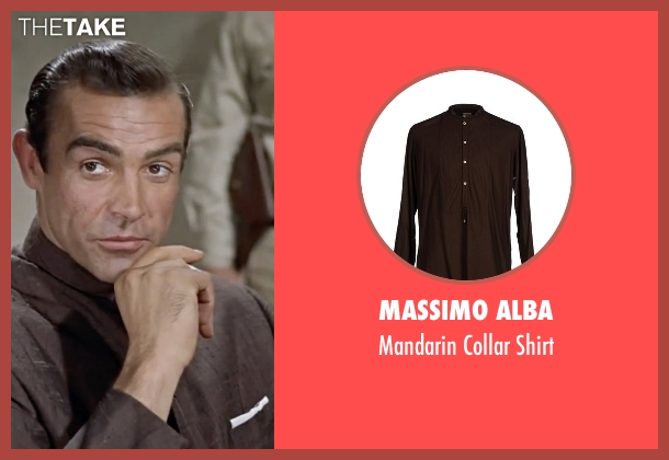 Massimo Alba brown shirt from Dr. No seen with Sean Connery (James Bond)