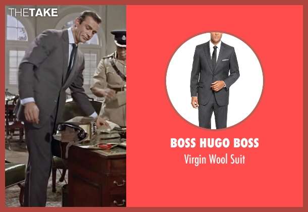 Boss Hugo Boss gray suit from Dr. No seen with Sean Connery (James Bond)