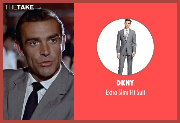 DKNY gray suit from Dr. No seen with Sean Connery (James Bond)