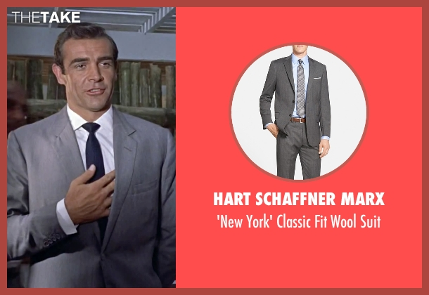 Hart Schaffner Marx gray suit from Dr. No seen with Sean Connery (James Bond)