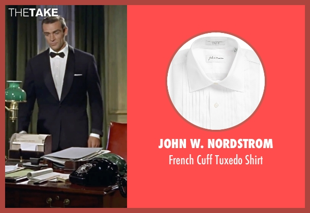 John W. Nordstrom white shirt from Dr. No seen with Sean Connery (James Bond)