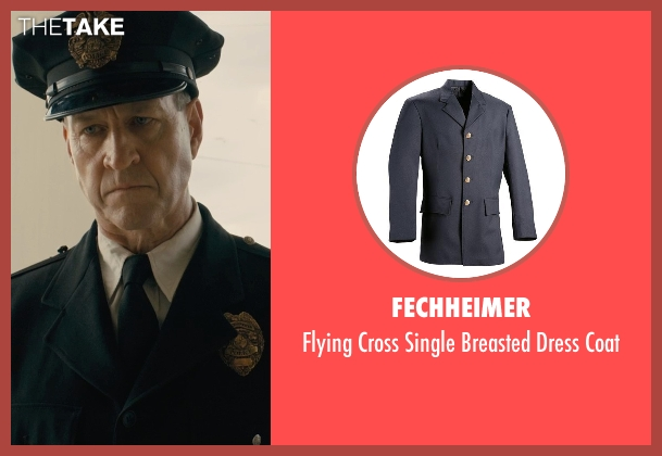 Fechheimer black coat from Unbroken seen with Sean Edward Frazer (US Officer P.O.W)