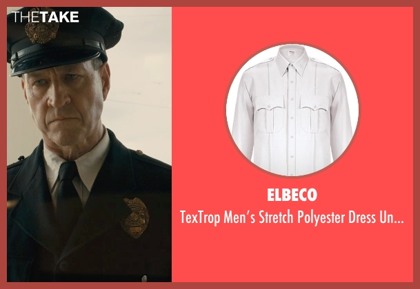 Elbeco white shirt from Unbroken seen with Sean Edward Frazer (US Officer P.O.W)
