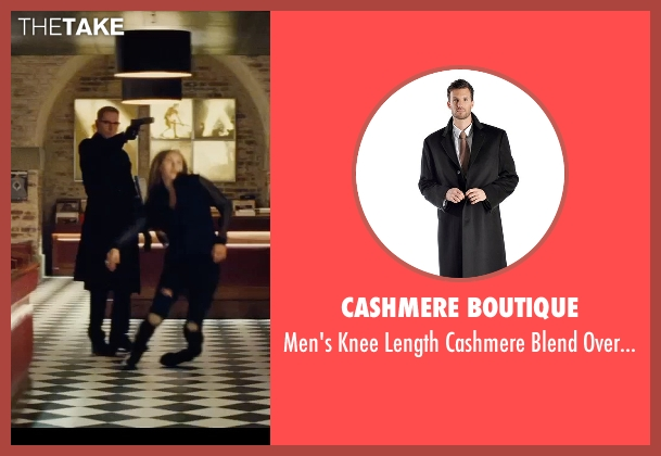 Cashmere Boutique black overcoat from Mission: Impossible - Rogue Nation seen with Sean Harris (Solomon Lane)