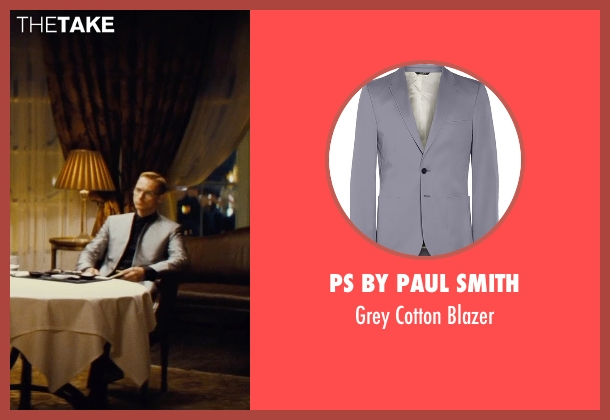 PS By Paul Smith gray blazer from Mission: Impossible - Rogue Nation seen with Sean Harris (Unknown Character)