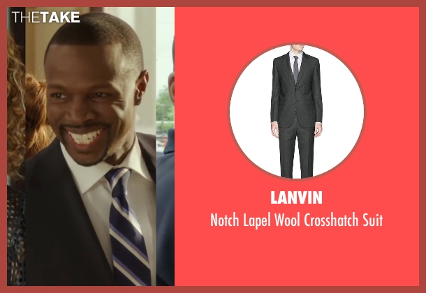 Lanvin black suit from Barbershop: The Next Cut seen with Sean Patrick Thomas (Jimmy James)
