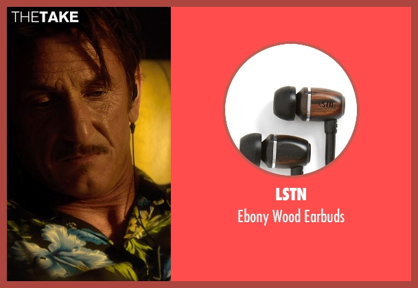 LSTN black earbuds from The Gunman seen with Sean Penn (Jim Terrier)