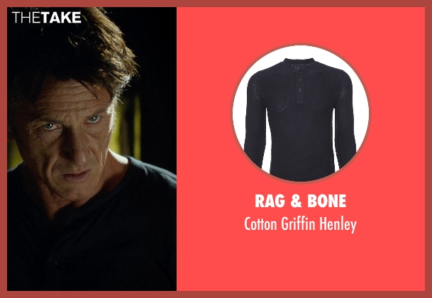 Rag & Bone black henley from The Gunman seen with Sean Penn (Jim Terrier)