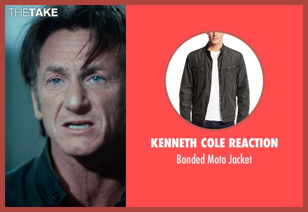Kenneth Cole Reaction black jacket from The Gunman seen with Sean Penn (Jim Terrier)