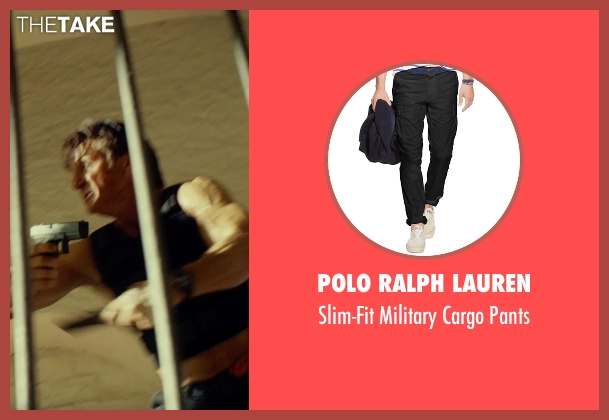 Polo Ralph Lauren black pants from The Gunman seen with Sean Penn (Jim Terrier)