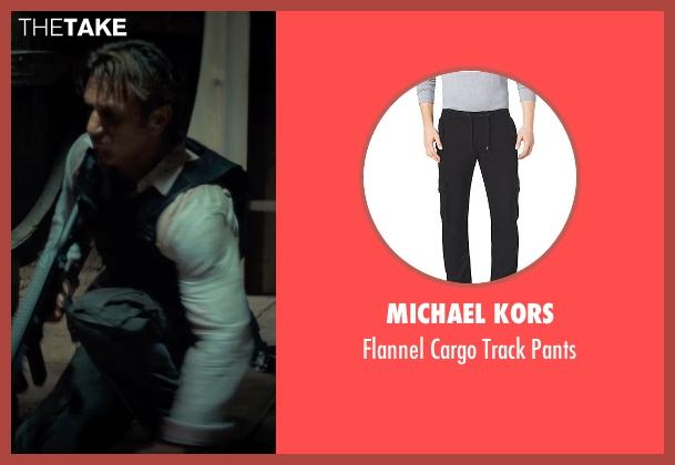 Michael Kors black pants from The Gunman seen with Sean Penn (Jim Terrier)
