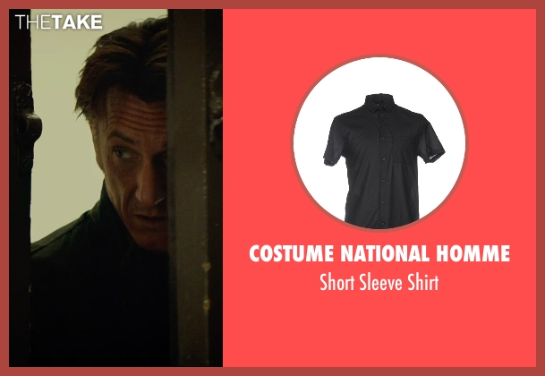 Costume National Homme black shirt from The Gunman seen with Sean Penn (Jim Terrier)