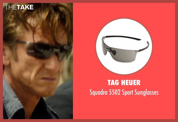 Tag Heuer black sunglasses from The Gunman seen with Sean Penn (Jim Terrier)
