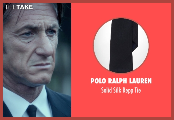 Polo Ralph Lauren black tie from The Gunman seen with Sean Penn (Jim Terrier)