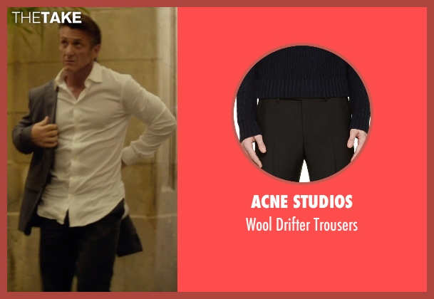 Acne Studios black trousers from The Gunman seen with Sean Penn (Jim Terrier)