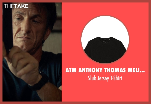 ATM Anthony Thomas Melillo black t-shirt from The Gunman seen with Sean Penn (Jim Terrier)