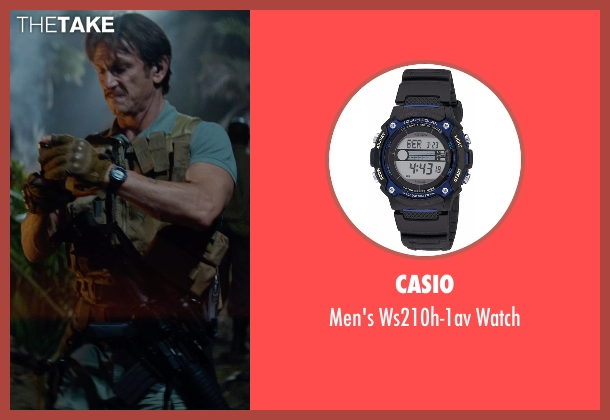 Casio black watch from The Gunman seen with Sean Penn (Jim Terrier)