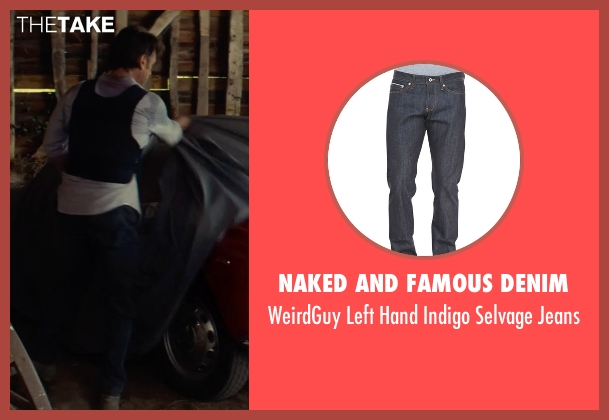 Naked and Famous Denim blue jeans from The Gunman seen with Sean Penn (Jim Terrier)