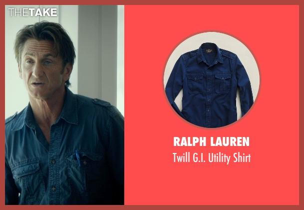 Ralph Lauren blue shirt from The Gunman seen with Sean Penn (Jim Terrier)