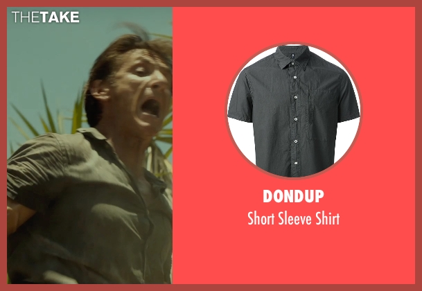 Dondup gray shirt from The Gunman seen with Sean Penn (Jim Terrier)
