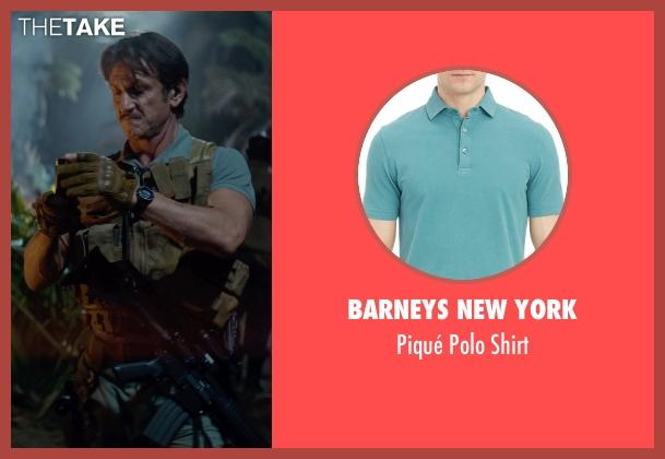 Barneys New York green shirt from The Gunman seen with Sean Penn (Jim Terrier)