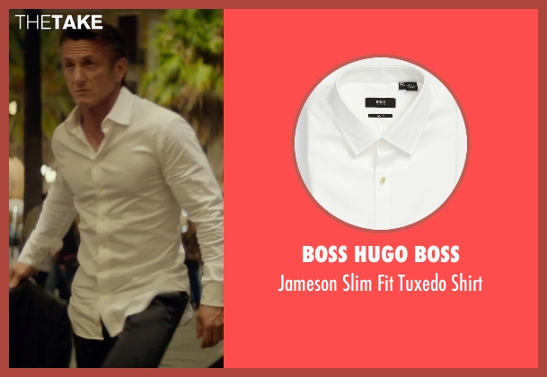 Boss Hugo Boss white shirt from The Gunman seen with Sean Penn (Jim Terrier)