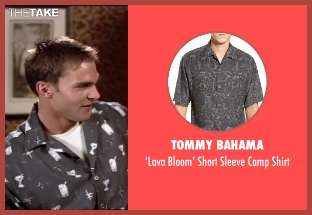 Tommy Bahama black shirt from American Pie seen with Seann William Scott (Steve Stifler)