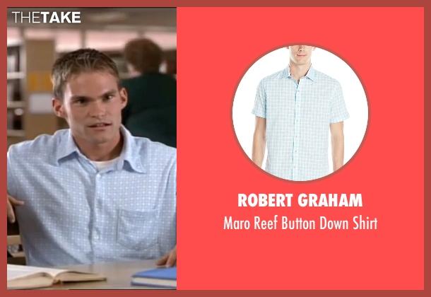 Robert Graham blue shirt from American Pie seen with Seann William Scott (Steve Stifler)