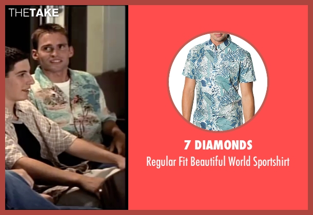 7 Diamonds green sportshirt from American Pie seen with Seann William Scott (Steve Stifler)